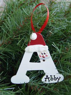 Personalized Santa letter ornaments. $5.75, via Etsy.