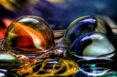 colourful. water bubbles. macro photography