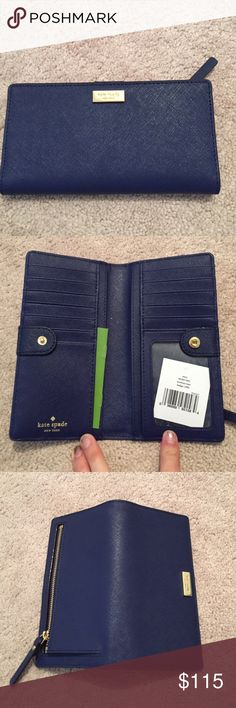 ⭐️FINAL SALE⭐️NWT Kate spade wallet New with tags Kate spade Stacy wallet. Color is indigo. kate spade Bags Wallets