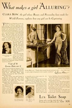 1930 Ad Lux Toliet Soap Jean Arthur Mary Brian Clara Bow Costume Actress SBM1