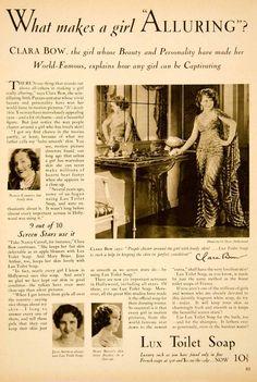 1930 Ad Lux Toliet Soap Jean Arthur Mary Brian Clara Bow Costume Actress SBM1