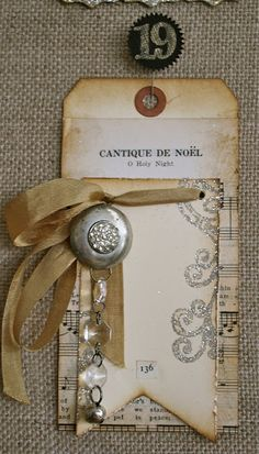 One Lucky Day: Tag instructions  rework great tutorial distressing, jewelry ,vintage, holiday tag