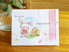 Friendship card |Snuggle Bunnies, MFT