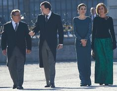 King Felipe VI of Spain and Queen Letizia of Spain attend the Pascua Militar ceremony at the Royal Palace on January 6, 2017 in Madrid, Spain. Spanish Royals Celebrate New Year's Military Parade 2017