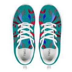 Kids shoes blue with Mandalas Indie