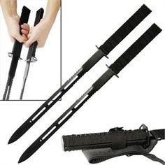2 Pc Magnetic Twin Ninja Fighting Sword Set