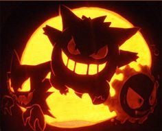 Pokemon pumpkins.