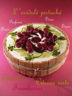J'en reprendrai bien un bout...: L'Acidulé pistaché (entremets Pistache, Framboises & Citron Vert) sans gluten