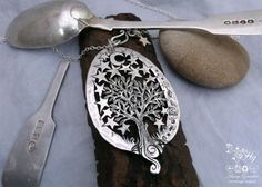 Recycled silver Victorian spoon