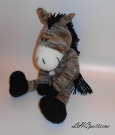 Horse Knitted Toy via Craftsy