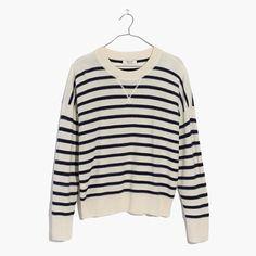 Madewell+-+Cashmere+Sweatshirt+in+Stripe