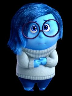 """I got Sadness! Are You More Like Joy Or Sadness From Disney's """"Inside Out""""? You're blue. Literally. For a while you didn't know if you even had a purpose, but you've come to realize that you can help solve problems without cheering anyone up. And that sometimes, being sad is part of life."""