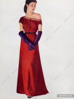 Balenciaga (Couture) 1948 Evening Gown