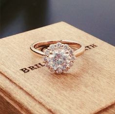 so in love with this rose gold diamond ring