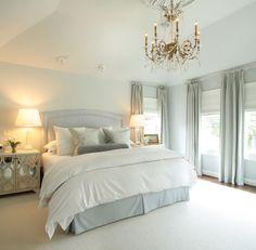 Gray-blues bedroom, dormitorio en azul y blanco