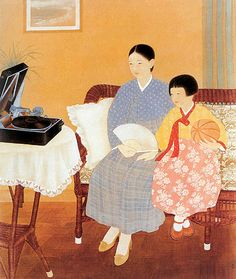 운보 김기창 1934 정청