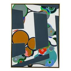 Abstract Oil Painting By John Harrison Levee, 1976  MidCentury Modern, Modern…
