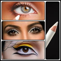 MakeupTip: Use a white kohl eyeliner on your waterline; it will compliment small eyes as well as open them up to give a wide-eyed effect.