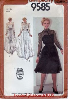#11 AFTER NOON OR DINNER FROCK DOLL PATTERN YOU PICK YOUR SIZE
