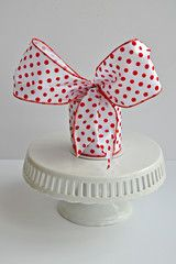 """Red/White, Peppermint Twist, 4"""" wired ribbon, Show Me Decorating"""