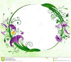 Swirl Floral Vector frame foto - Hledat Googlem