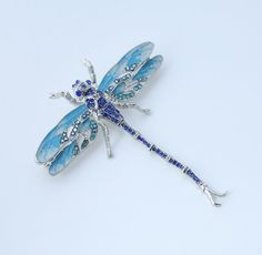 Dragonfly Brooch Pin. Blue Dragonfly Broach Pin. by CacheAvenue. My something blue in loving memory of my grandfather.