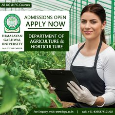 Welcome To Himalayan Garhwal University Green Revolution, Horticulture, Two By Two, University, How To Apply, Change, Future, Future Tense, Garden Planning