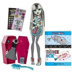 Monster High W2558 - Muñeca Frankie Stein, vestida de clase con taquilla