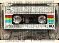 Mixtape Vintage Dictionary Art Print by ThetisCreations
