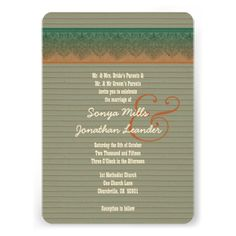 Rustic Style Wood Texture and  Damask Wedding V27 Invitation  To see more Jaclinart rustic wedding, visit www.zazzle.com/... #rustic #wedding #fall #autumn #barn #lace #burlap