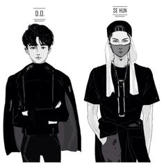 SEHUN & KYUNGSOO FanArt This is really good fanart. I've tried to draw them, but I will never draw this good