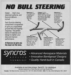 Bracket bottom syncros steel