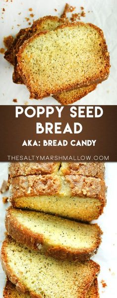 The best ever quick and easy poppy seed bread with a sweet orange glaze!
