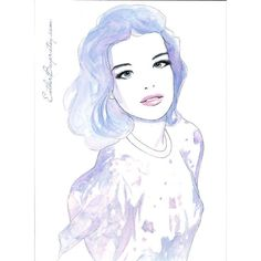 Original Watercolor & Ink Painting ($299) ❤ liked on Polyvore featuring home, home decor, wall art, art, backgrounds, sketches, watercolor, drawing, watercolor painting and inspirational home decor