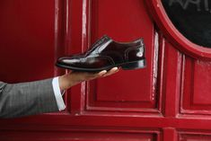 Male Oxford Holmes Handmade in Spain in Burgundy leather by Beatnik Shoes