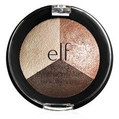 "e.l.f. cosmetics - Studio Baked Eyeshadow Trio in ""Peach Please""   $4.00 @ www.eyeslipsface.com"