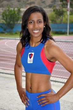 queentiye:    Pasquale Delaney  Triple Jumper for Haiti in the 2012 Olympics  who also engineers for Cisco on the side!!  she's injured and can no longer play but I'm still very proud!
