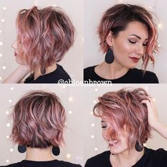 Hårtrend: 7 haircuts til fint hår & Femmes d& Edgy Short Hair, Edgy Hair, Short Hair Cuts, Modern Short Hair, Colored Short Hair, Trendy Hair, Short Bob Hairstyles, Pretty Hairstyles, Easy Hairstyles