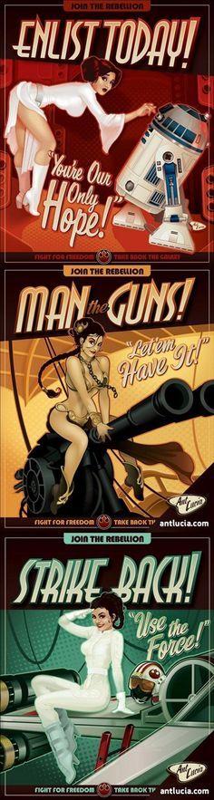 star wars pin up posters,