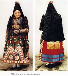 Traditional costume of Lower Franconia in Germany
