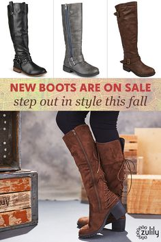Sign up to shop boots and booties up to 70% off at zulily.com. Dressy or casual, flat or heeled – a pair of boots completes every woman's closet. Our great prices and trusted brands mean it's easy to find an affordable and high-quality pair every time you shop!