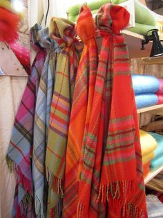 Irish blankets--reminds me of the ones I bought in Killarney!