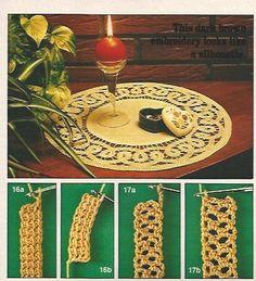 Romanian Point Lace crochet in Anna Burda magazine, March 1981
