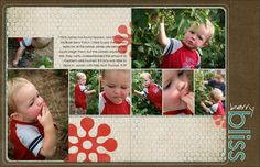 multiphoto two page spread...7 photo layout...