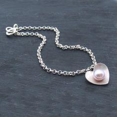 Pearl Heart Charm Bracelet https://www.emmakatefrancis.com/store/c7/Pearl_Heart.html