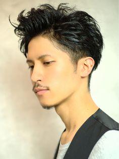 ベック 恵比寿 代官山店(BEKKU hair salon) ツーブロックと七三を無造作に仕上げたスパイキー束感ショート!