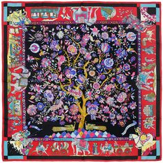 HERMES SCARF Silk Fantaisies Indiennes by Loïc Dubigeon by EXANYC