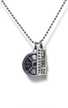 Strong is beautiful necklace perfect for the the weightlifter in your life!