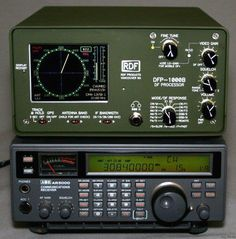 The Radio on the bottom is a AOR 5000 Communications Receiver
