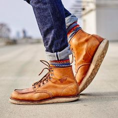 """Scrapbook chronicles of a good life aficionado. """"My fault, my failure, is not in the passions I have, but in my lack of control of them. Red Wing Heritage Boots, Red Wing Boots, Denim Boots, Jeans And Boots, Red Wing Moc Toe, Red Wing 875, Leather Men, Leather Boots, Walker Boots"""